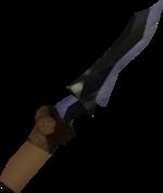 Off-hand argonite dagger detail