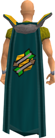 Retro fletching cape equipped