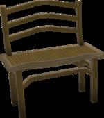 Teak dining bench built
