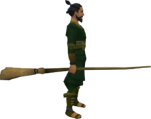 Broomstick equipped