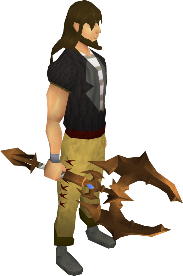 Corrupt dragon battleaxe equipped