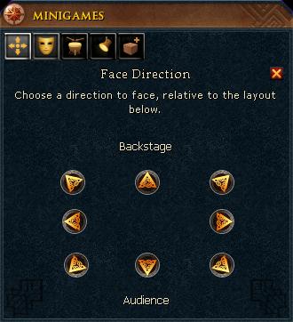 Face direction menu