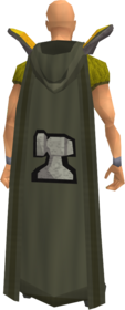 Retro hooded smithing cape equipped