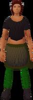 Retro sashed skirt