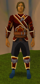 Superior skeletal boots equipped