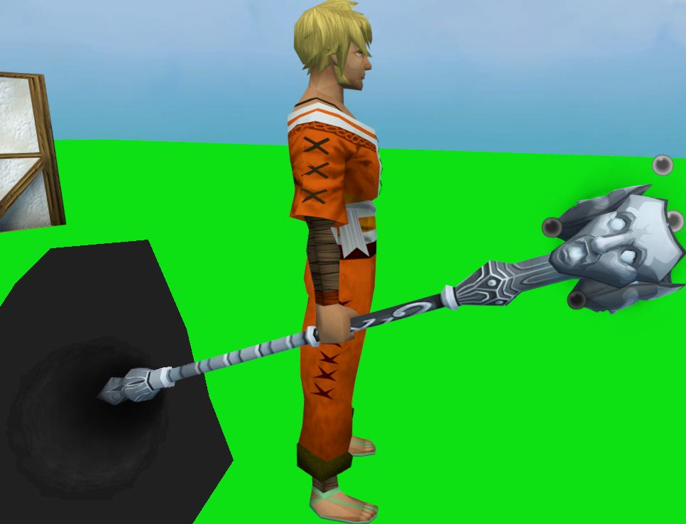 Staff of Sliske (Third Age) equipped