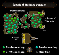 Temple of Marimbo Dungeon map