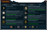 Barbarian Assault rewards interface (Misc)