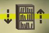 Mahogany bookcase (flatpack) detail
