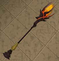 Mystic fire staff detail