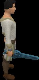 Espada rúnica equipada