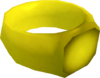 Gold ring (i) detail