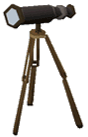 Wooden telescope built