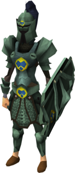 Adamant heraldic armour set 3 (sk) equipped