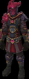 Refined Anima Core of Zamorak armour equipped