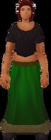 Retro frilled skirt