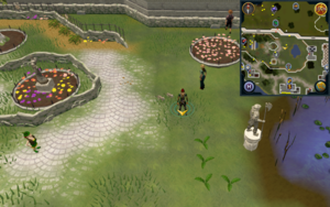 Scan clue Falador centre of Falador Park