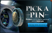 Bank PIN reminder popup