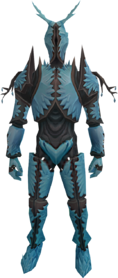 Crystal armour equipped