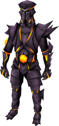Obsidian warrior helm equipped