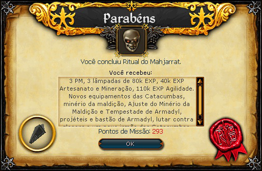 Ritual do Mahjarrat recompensa