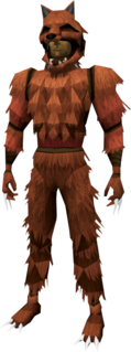 Werewolf outfit (red, male) equipped
