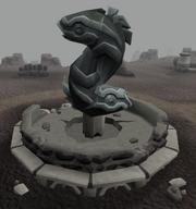 Yin and Yang fountain