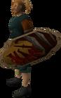 Anti-dragon shield equipped