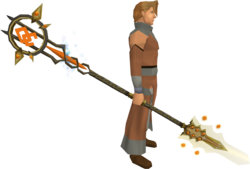 Godless Tuska spear equipped