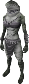 Tiger shark outfit (female) equipped