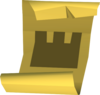 Castle wars ticket (gold) detail