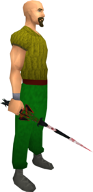 Drygore rapier (blood) equipped