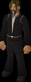 Fake pirate beard (grey) equipped