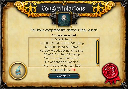 Nomad's Elegy reward