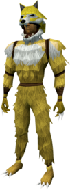 Werewolf outfit (gold, male) equipped