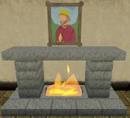 Blue Moon Inn fireplace