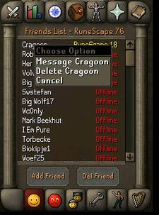 Runescape scherm friends