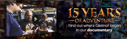 15 year documentary lobby banner