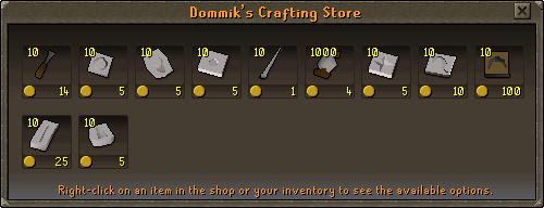 Dommik's Crafting