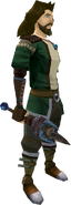 Manticore wand equipped