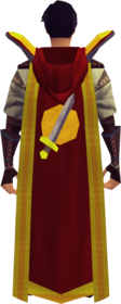 Retro hooded attack cape (t) equipped
