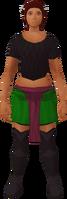Retro shortskirt and sash