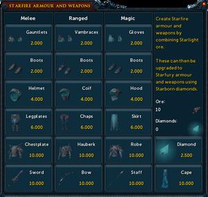 Starlight ore interface