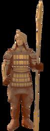 Terracotta statue detail