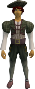 Audience costume (male, green) equipped