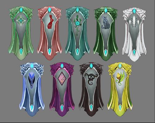 Elf City - Elven Clan capes concept art