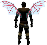 Ethereal wings (blood) equipped