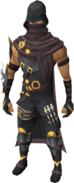 Shadow Hunter outfit equipped (male)