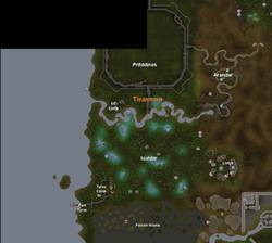 Tirannwn mapa