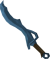Bones' rune scimitar detail